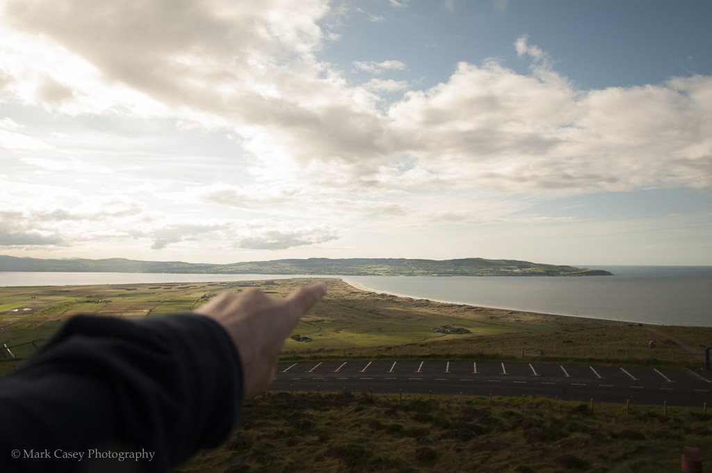 Pointing to Magilligan's Point